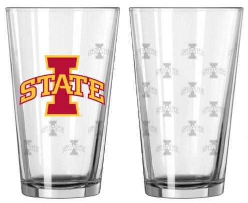 Iowa State Cyclones Satin Etch Pint Glass - Set of 2