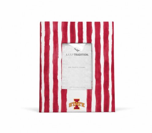 Iowa State Cyclones School Stripes Picture Frame
