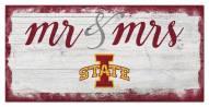 Iowa State Cyclones Script Mr. & Mrs. Sign
