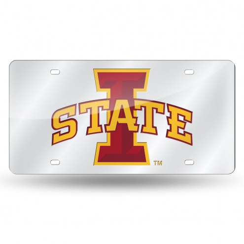 Iowa State Cyclones Silver Laser License Plate