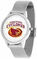 Iowa State Cyclones Silver Mesh Statement Watch