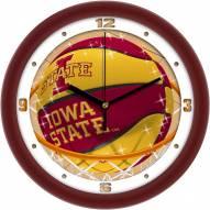 Iowa State Cyclones Slam Dunk Wall Clock