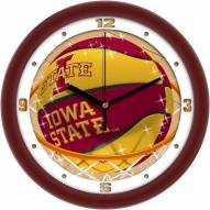 Iowa State Cyclones Slam Dunk Wall Clock
