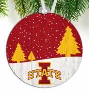 Iowa State Cyclones Snow Scene Ornament