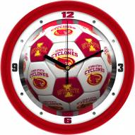 Iowa State Cyclones Soccer Wall Clock