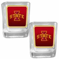 Iowa State Cyclones Square Glass Shot Glass Set