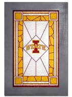Iowa State Cyclones Stained Glass with Frame