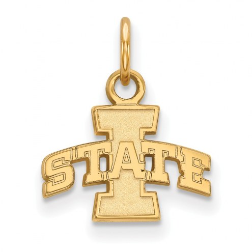 Iowa State Cyclones Sterling Silver Gold Plated Extra Small Pendant