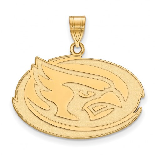 Iowa State Cyclones Sterling Silver Gold Plated Large Pendant