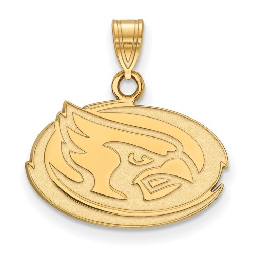 Iowa State Cyclones Sterling Silver Gold Plated Small Pendant