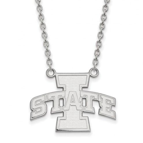 Iowa State Cyclones Sterling Silver Large Pendant Necklace