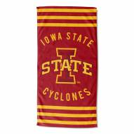 Iowa State Cyclones Stripes Beach Towel