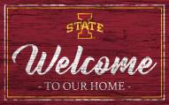 Iowa State Cyclones Team Color Welcome Sign