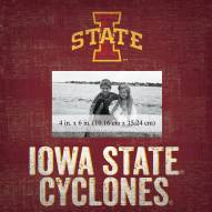 """Iowa State Cyclones Team Name 10"""" x 10"""" Picture Frame"""