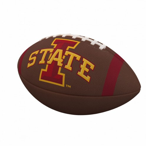 Iowa State Cyclones Team Stripe Official Size Composite Football
