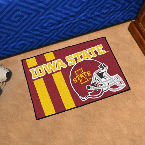 Iowa State Cyclones Uniform Inspired Starter Rug