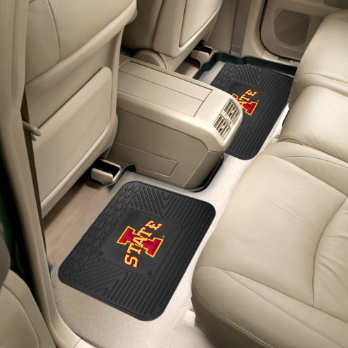 Iowa State Cyclones Vinyl 2-Piece Rear Floor Mats