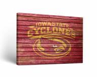 Iowa State Cyclones Weathered Canvas Wall Art