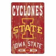 Iowa State Cyclones Slogan Wood Sign