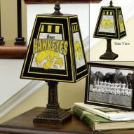 Iowa Hawkeyes NCAA Hand-Painted Art Glass Table Lamp
