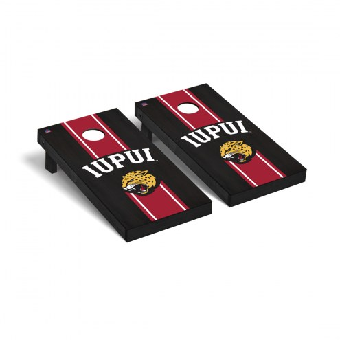 IUPUI Jaguars Onyx Stained Cornhole Game Set