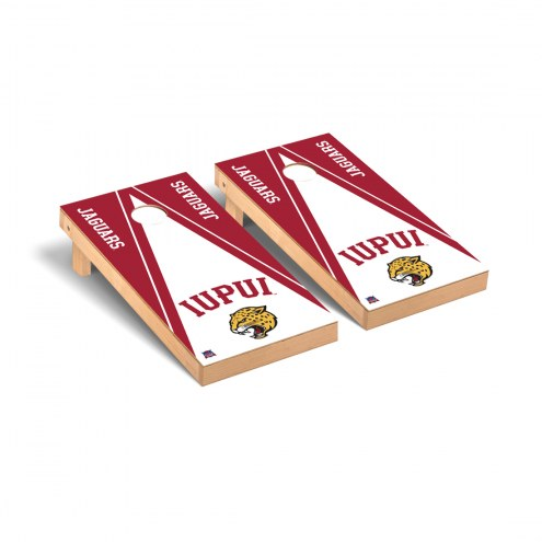 IUPUI Jaguars Triangle Cornhole Game Set