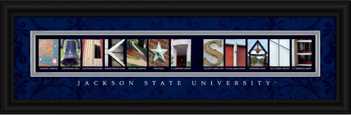 Jackson State Tigers Campus Letter Art