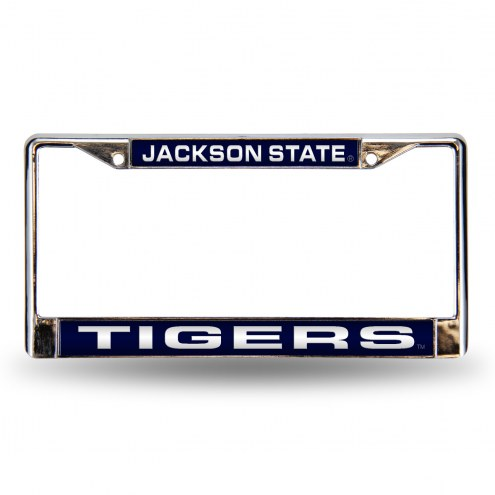 Jackson State Tigers Laser Chrome License Plate Frame
