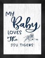 Jackson State Tigers My Baby Loves Framed Print