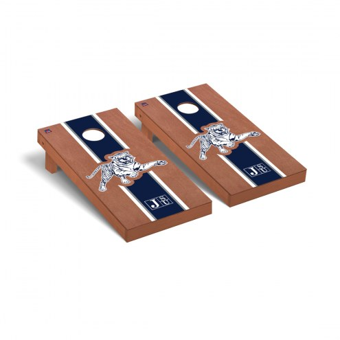 Jackson State Tigers Rosewood Stained Cornhole Game Set