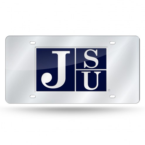 Jackson State Tigers Silver Laser License Plate