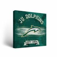 Jacksonville Dolphins Banner Canvas Wall Art