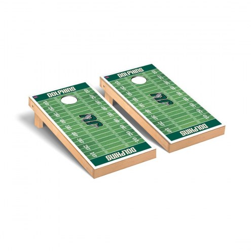 Jacksonville Dolphins Football Field Cornhole Game Set