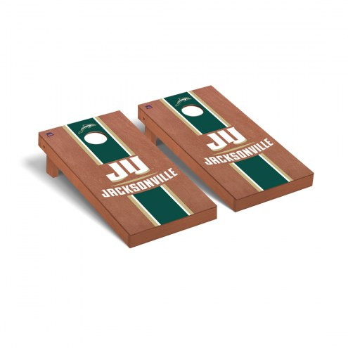 Jacksonville Dolphins Rosewood Stained Stripe Cornhole Game Set