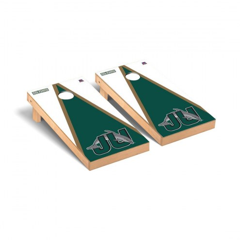 Jacksonville Dolphins Triangle Wooden Cornhole Game Set