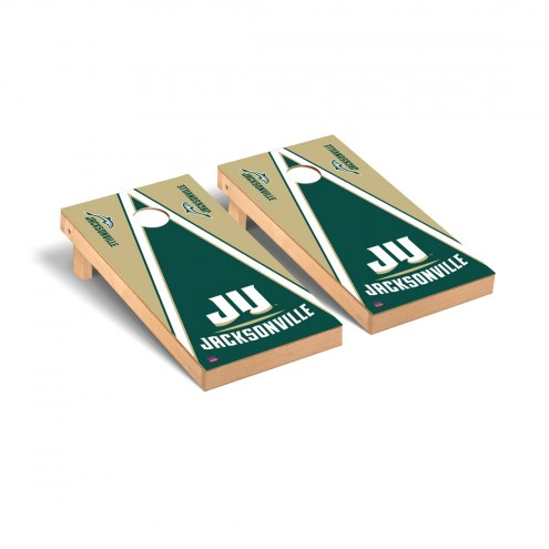 Jacksonville Dolphins Triangle Wooden II Cornhole Game Set
