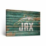 Jacksonville Dolphins Weathered Canvas Wall Art