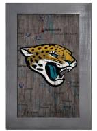 """Jacksonville Jaguars 11"""""""" x 19"""""""" City Map Framed Sign"""