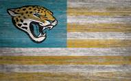 "Jacksonville Jaguars 11"""" x 19"""" Distressed Flag Sign"