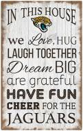 """Jacksonville Jaguars 11"""""""" x 19"""""""" In This House Sign"""