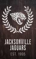 """Jacksonville Jaguars 11"""""""" x 19"""""""" Laurel Wreath Sign"""