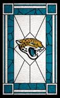 """Jacksonville Jaguars 11"""""""" x 19"""""""" Stained Glass Sign"""