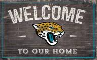"""Jacksonville Jaguars 11"""""""" x 19"""""""" Welcome to Our Home Sign"""