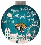 """Jacksonville Jaguars 12"""""""" Christmas Village Wall Art"""