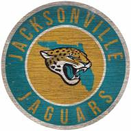 """Jacksonville Jaguars 12"""""""" Circle with State Sign"""