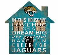 "Jacksonville Jaguars 12"""" House Sign"