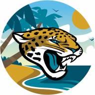 "Jacksonville Jaguars 12"""" Landscape Circle Sign"