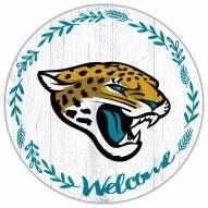 "Jacksonville Jaguars 12"""" Welcome Circle Sign"