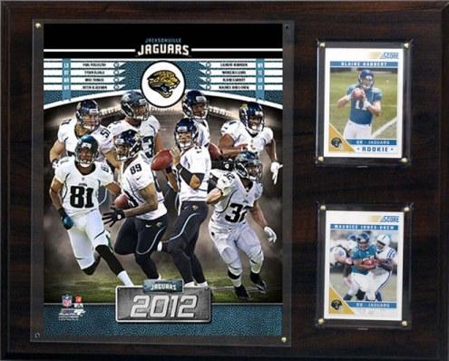 """Jacksonville Jaguars 12"""" x 15"""" Team Plaque"""