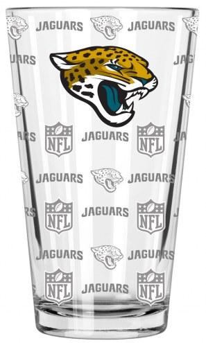 Jacksonville Jaguars 16 oz. Sandblasted Pint Glass
